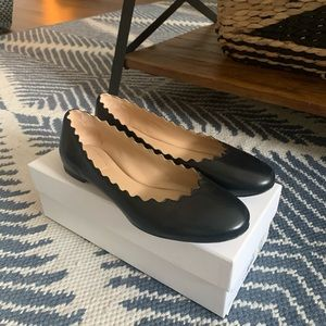 Chloe Lauren Scalloped Flats (PRISTINE, WORN ONCE)